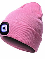 cheap -warm bright led lighted beanie cap unisex rechargeable headlamp hat … (black)