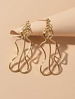 cheap -Women's Drop Earrings Geometrical Fashion Trendy Earrings Jewelry Gold / Silver For Date