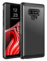 cheap -galaxy note 9 case samsung note 9 case slim dual layer hybrid hard pc cover soft bumper shockproof full body protective anti-slip durable phone case for samsung galaxy note 9 gray