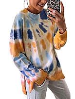 cheap -ladies spring clothes crew neck warm basic long sleeve shirt tye dye tunic beach pullover sweatshirts for women plain t-shirts slochy kawaii sweater tie dye tshirt top tier orange x-large