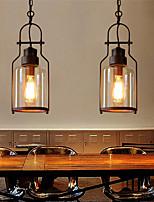 cheap -15.5cm LED Pendant Light Glass Vintage Style Geometric Single Design Metal Classic Painted Finishes 110-120V 220-240V