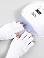 cheap -Nail Art UV Gloves Prevent Hand Darkening UV Protection UV Gloves Thermal Insulation Phototherapy Nail Leakage Finger Gloves
