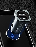 cheap -Remax RCC226 Car Charger 2 Double USB A Type A 24W 4.8A Power Fast Charge Quick To  Phone 12V-24V Tarnish Color 1PCS  AL ABS Meterials