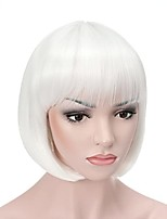cheap -Pastel Wavy Wig With Air Bangs Women's Short Bob Pink Wig Curly Wavy Shoulder Length Pastel Bob Synthetic Cosplay Wig for Girl Colorful Costume Wigs(12 Pink)