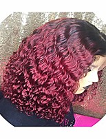 cheap -synthetic non-lace short curly wigs with baby hair brazilian 1b 27 burgundy honey blonde bob wig for black woman hair,t1b/burgundy,10inches