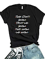 cheap -womens black friends t-shirt - graphic tees for women | they dont know, s