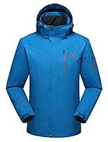 cheap -men's softshell sportswear hooded waterproof raincoat fleece outdoor jacket blue l