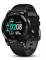 cheap -smart watch for men activity tracking heart rate blood pressure monitor sleep tracker ip67 waterproof smart watch camera control sedentary reminder pedometer calorie counter touchscreen black
