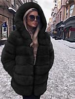 cheap -Long Sleeve Coats / Jackets Faux Fur Party / Evening / Office / Career Women's Wrap With Fur / Tie Dye