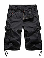 cheap -mens military cargo shorts army camouflage tactical shorts cotton loose work casual short 502black 29