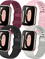 cheap -4 pack compatible with apple watch band 38mm 42mm 40mm 44mm, soft silicone replacement band compatible with iwatch series 6 5 4 3 se (black/gray/wine red/pink, 42mm/44mm s/m)