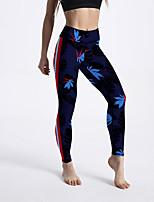 cheap -Women's Sporty Comfort Gym Yoga Leggings Pants Striped Ankle-Length Print Royal Blue