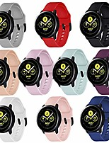 cheap -10-pack sport bands for galaxy watch active2 44mm,galaxy watch active2 40mm/galaxy watch 42mm/galaxy watch active 40mm/gear sport watch with black watch buckle (10-pack, small)