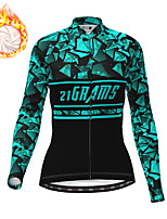 cheap -21Grams Women's Long Sleeve Cycling Jacket Winter Fleece Polyester White Purple Blue Bike Jacket Top Mountain Bike MTB Road Bike Cycling Thermal Warm Fleece Lining Breathable Sports Clothing Apparel