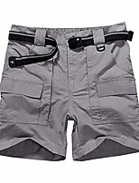 cheap -men's outdoor casual expandable waist water resistant quick dry cargo fishing hiking sports shorts #6033 grey-34