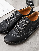 cheap -Men's Oxfords Casual Daily Walking Shoes PU Breathable Non-slipping Wear Proof Black Khaki Brown Fall