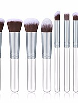 cheap -8 pcs makeup brush set cosmetic make up tools foundation natural beauty palettes eyeshadow vanity cute popular eyes face colorful rainbow hair highlights glitter girls travel kit, type-04