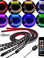 cheap -car underglow lights neon accent strip lights kit underbody led lights 8 color sound active function and wireless remote control for cars trucks boats(90x120cm)