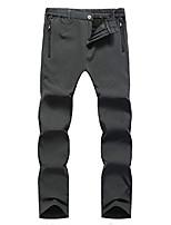 cheap -women's outdoor windproof fleece lined hiking pants waterproof snow ski pants(fleece-w801-gray-m)