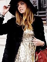 cheap -Long Sleeve Coats / Jackets Faux Fur Office / Career Bolero With Solid