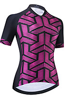 cheap -Women's Short Sleeve Cycling Jersey Purple Bike Top Mountain Bike MTB Road Bike Cycling Breathable Quick Dry Sports Clothing Apparel / Stretchy / Athletic