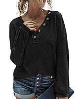 cheap -womens casual loose long sleeve off shoulder top pullover shirt blouse black small