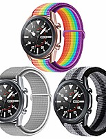 cheap -22mm soft nylon watch bands compatible for samsung galaxy watch 46mm/gear s3 frontier/classic, sport strap wristband replacement bracelet for women men (3p2)