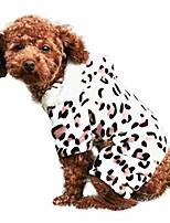 cheap -pet dog hoodie jumpsuit sweatshirt plush leopard winter for puppy apparel clothes