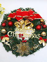 cheap -Christmas Wreath for Front Door Home Decor for Christmas Party Indoor Outdoor Garland