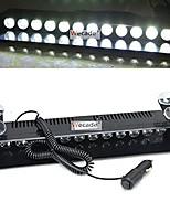 cheap -wecade 12w 12 leds car truck emergency strobe flash light windshield warning light (white)