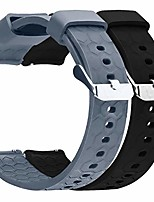 cheap -compatible with garmin vivoactive 4 band silicone straps 22mm silicone quick release watch band strap wristband for vivoactive 4 watch band (black&gray)