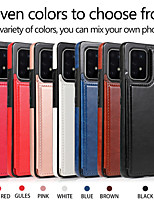 cheap -Case For Samsung Galaxy S9 / S9 Plus / S7 edge Shockproof Back Cover Solid Colored PU Leather