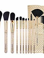 cheap -12 makeup brushes set beginner makeup tools complete set of eye brushes is super soft (color : gold)
