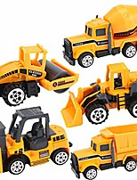 cheap -die cast metal toy, 5 pcs mini classic diecast construction engineering truck vehicles cars toys sets for kids boys and girls (yellow)