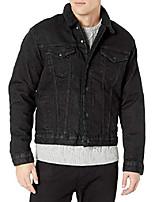 cheap -men's button trucker jacket, factory place sherpa, l