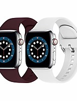 cheap -sport bands compatible with apple watch 38mm 40mm, soft silicone replacement strap works with iwatch series 6/se/5/4/3/2/1 (2colors wine red+white, 38mm/40mm m/l)