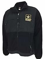 cheap -united states army star fleece jacket, x-large, black