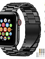 cheap -stainless steel metal band for apple watch 38/40/42/44mm strap replacement link bracelet band compatible with apple watch series 6 apple watch series 5 apple watch series 1/2/3/4(black,38/40mm)
