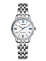 cheap -sinobi elegant simple classical quartz watch stainless steel band leather women watches ladies business wristwatch