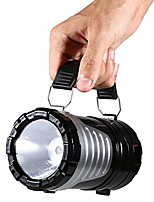 cheap -multi-function led camping lantern, portable collapsible night light waterproof emergency flashlight, suitable for survival kits usb rechargeable+solar charging for hurricane storms