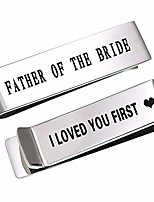cheap -father of the bride tie clips, dad gift from daughter, wedding tie bars for mens