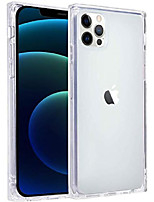 cheap -case compatible with iphone 12 pro case clear square slim protective shockproof anti-scratch [wireless charging supported] tpu case compatible with iphone 12 pro iphone 12 5g 6.1 inch clear