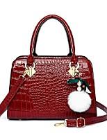 cheap -Women's Bags Satchel Top Handle Bag Handbags Date Office & Career Black Red Brown
