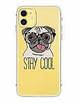 """cheap -iphone 11 (6.1 inch) case, dog style transparent clear soft tpu protective case compatible for iphone 11 6.1"""" 2019 release (stay cool dog)"""
