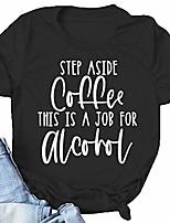 cheap -women's shirt step aside coffee casual short sleeve tops mom life shirt cute mom shirt