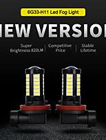 cheap -2 Pcs Automobile Led Fog Lamp H11 Lamp Fog High Power LED Bulbs Headlamp Highlight Led Headlight Car Led White 8.5W Light
