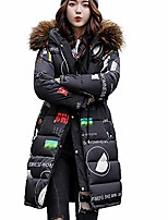 cheap -women's hooded coat, sunyastor winter warm long thick cotton-padded jacket fur collar overcoat fashion outwear