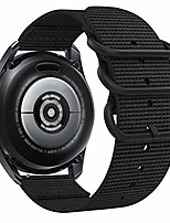 cheap -compatible for samsung galaxy watch 3 45mm/46mm band,men woven nylon replacement strap wristband with metal buckle for samsung galaxy watch 46mm/gear s3 classic/frontier (black, large)
