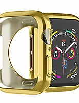 cheap -for apple watch case 44mm soft tpu apple watch protective case bumper shockproof protector case cover for iwatch series 5/4/3/2/1 (gold 44mm)