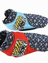 cheap -Dog Cat Coat Jacket Snowflake Fashion Casual / Daily Winter Dog Clothes Puppy Clothes Dog Outfits Breathable Black Yellow Red Costume for Girl and Boy Dog Cotton XS S M L XL XXL